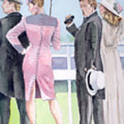 A Day At The Races Print by Arline Wagner