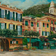 A Day In Portofino Art Print