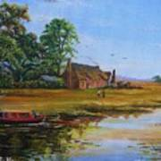 A Day On The Canal Art Print