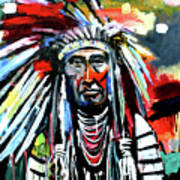 A Decorated Chief 1 Art Print