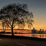 A Detroit Sunset - The View From Belle Isle Art Print