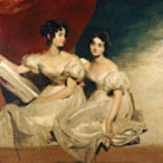 A Double Portrait Of The Fullerton Sisters Art Print by Sir Thomas Lawrence