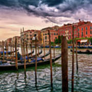 Surreal Seascape On The Grand Canal In Venice, Italy Art Print
