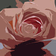 A Dusty Rose-d Art Print