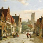 A Dutch Street In Summer Art Print