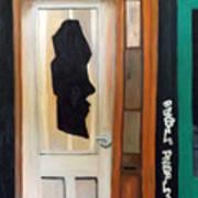 A Face In The Door Art Print