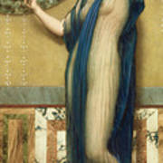A Fair Reflection Art Print by John William Godward