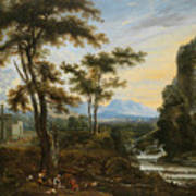 A Fantastic Countryside Around Rome Art Print
