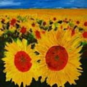 A Field Of Sunflowers Art Print