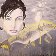 A Fish Named Angelina Art Print