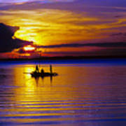 A Fisherman's Sunset  Art Print
