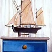 A Fishin Boat Right Outside Of Delacroix Art Print