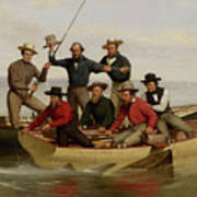A Fishing Party Off Long Island Metal Art Print