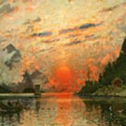 A Fjord Art Print