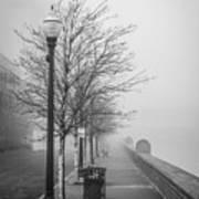 A Foggy Walkway Art Print