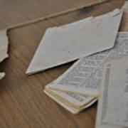 A Forgotten Text Art Print