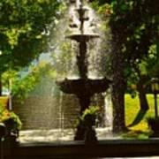 A Fountain In A St. Paul Park Art Print