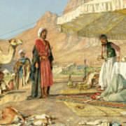 A Frank Encampment In The Desert Of Mount Sinai 1842 Art Print