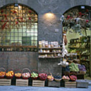 A Fruit And Vegetable Shop In Siena Art Print
