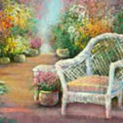 A Garden Chair Art Print