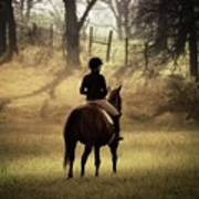 A Girl And Her Horse Art Print