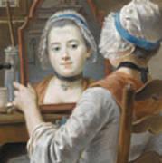 A Girl Wearing A Bonnet Art Print