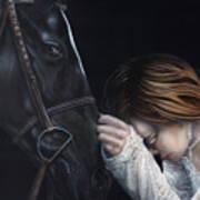 A Girl Who Loves Horses Art Print
