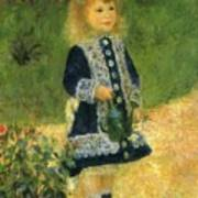 A Girl With A Watering Can 1876 Art Print