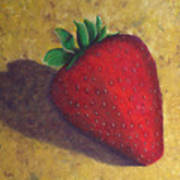 A Great Big Strawberry Art Print