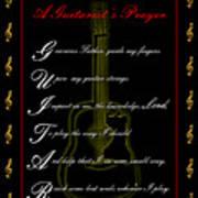 A Guitarist Prayer_1 Art Print by Joe Greenidge