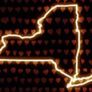 A Heart In New York Art Print