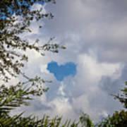 A Heart In The Sky Art Print