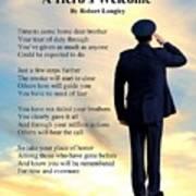 A Hero's Welcome - Air Force 1 Art Print