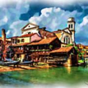 A Hidden Place In Venice Art Print