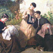 A Honiton Lace Manufactory Print by Frederick Richard Pickersgill