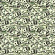 A Hundred Dollar Bill Banknotes Art Print