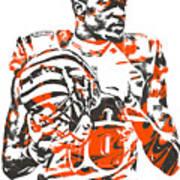A J Green Cincinnati Bengals Pixel Art 5 Art Print