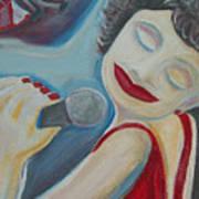 A Jazz Singer Art Print