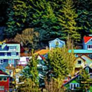 A Juneau Hillside  Art Print