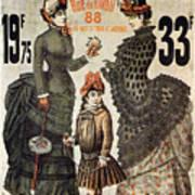 A La Tour St.jacques - Rue De Rivoli - Vintage Fashion Advertising Poster - Paris, France Art Print
