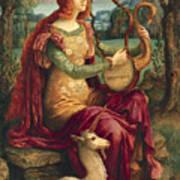 A Lady With A Unicorn Art Print