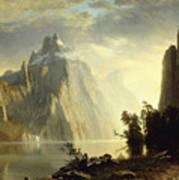 A Lake In The Sierra Nevada Art Print