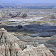 A Landscape Of The Badlands In South Art Print