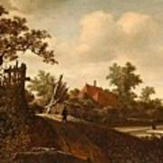 A Landscape With A Figure On A Path And A Bleaching Art Print