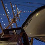 A Lifeboat Named Maria Boston Tall Ships 2017 Lighted Mast Boston Ma Art Print