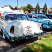 A Line Of Classic Antique Cars 3 Art Print