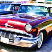 A Line Of Classic Antique Cars 9 Art Print