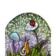 A Little Chat-ladybug And Snail Art Print