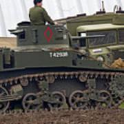 A Little Honey - M3 Stewart Light Tank Art Print