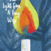 A Little Light- Art By Linda Woods Art Print